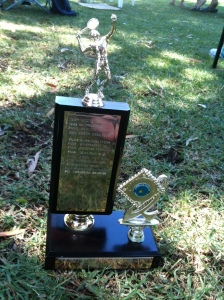 Country week tennis tournament trophy